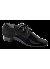 Dance Me Обувь мужская для стандарта 5102, черный лак и нубук.