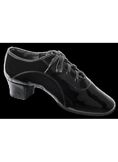 Мужские туфли для латины Dance Me 5207, черный лак