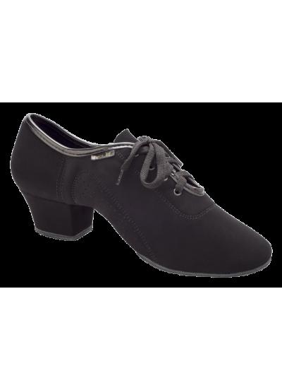 Мужские туфли для латины Dance Me 5204, черный нубук