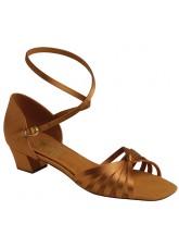Supadance Обувь детская для девочек 1666, Dark Tan Satin