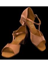 Supadance Обувь детская для девочек 1007, Dark Tan Satin