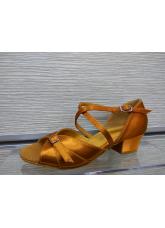 Обувь блок-каблук 30366 Dance.me, Украина, БК, Кедр, Сатин