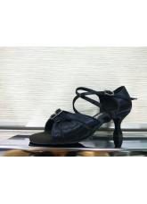 Dance Me Обувь женская для латины 4205, черный сатин