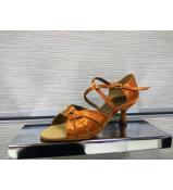 Dance Me Обувь женская для латины 0505, кирпичный сатин