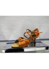Dance Me Обувь женская для латины 4205, кирпичный сатин
