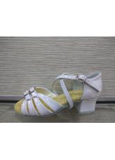 Обувь блок каблук 2002 Dance.me, Украина, белый/лак