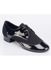 Galex Обувь для мальчика Пино для стандарта, черный лак и нубук