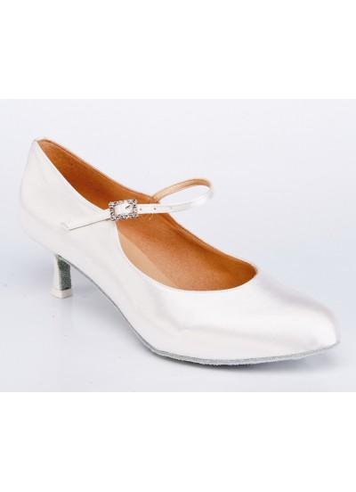 Galex Обувь женская для стандарта Кристи, белый сатин