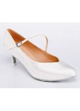 Galex Обувь женская для стандарта Инга, белый сатин