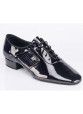 Обувь для стандарта для мальчика Galex Оксфорд-флекси, черный лак