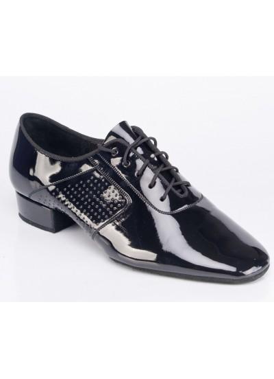 Galex Оксфорд-флекси. Обувь для стандарта для мальчика, черный лак
