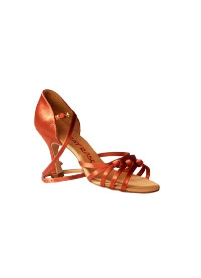 Ray Rose Обувь женская для латины 879 Amazon, Dark Tan Satin