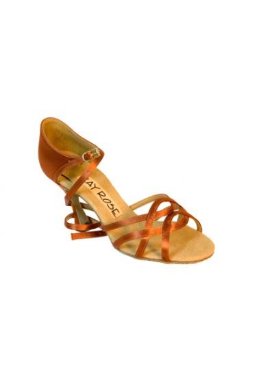 Ray Rose Обувь женская для латины 840 Gobi, Dark Tan Satin