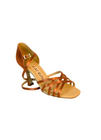Ray Rose Обувь женская для латины 860 Kalahari ULTRA-FLEX, Dark Tan Satin