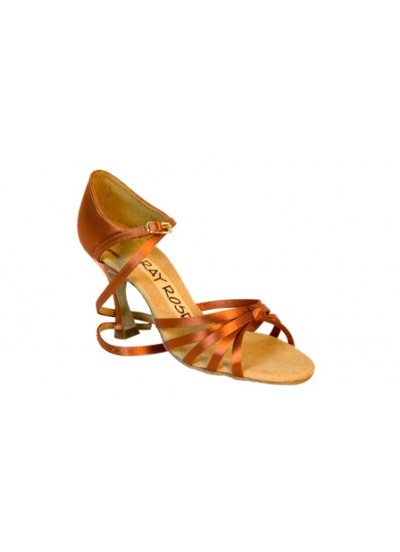Ray Rose Обувь женская для латины 825 Drizzle ULTRA-FLEX, Dark Tan Satin