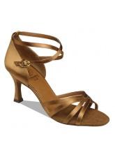 Supadance Обувь женская для латины 7844, Dark Tan Satin