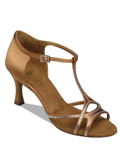 Supadance Обувь женская для латины 1058, Dark Tan Satin