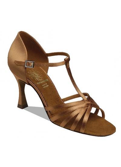 Supadance Обувь женская для латины 1401, Dark Tan Satin