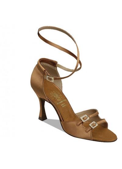 Supadance Обувь женская для латины 1618, Dark Tan Satin