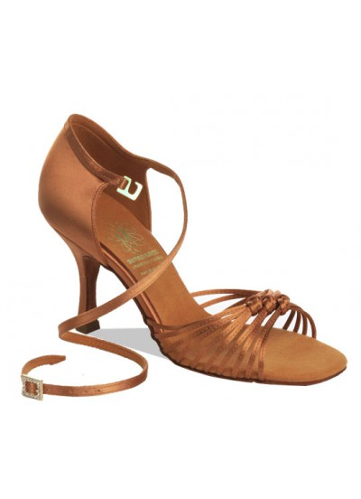 Supadance Обувь женская для латины 1060, Dark Tan Satin