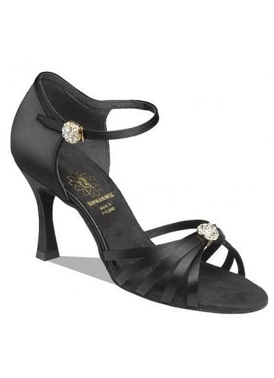 Supadance Обувь женская для латины 1064, Black Satin