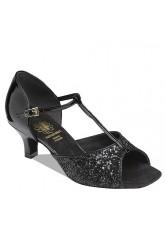 Supadance Обувь женская для латины 1029, Black Sparkle