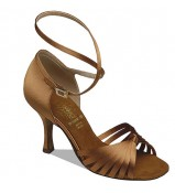 Supadance Обувь женская для латины 1063, Dark Tan Satin