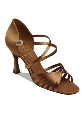 Supadance Обувь женская для латины 1066, Dark Tan Satin