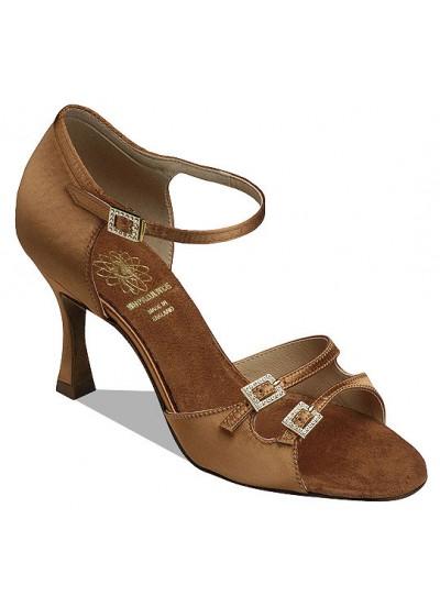 Supadance Обувь женская для латины 1616, Dark Tan Satin