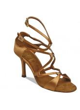 Supadance Обувь женская для латины 1062, Dark Tan Satin