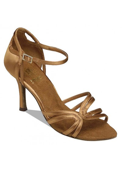 Supadance Обувь женская для латины 1056, Dark Tan Satin