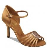 Supadance Обувь женская для латины 1071, Dark Tan Satin