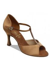 Supadance Обувь женская для латины 1029, Dark Tan Satin