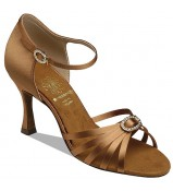 Supadance Обувь женская для латины 1516, Dark Tan Satin
