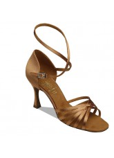 Supadance Обувь женская для латины 1403, Dark Tan Satin
