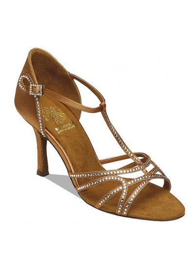 Supadance Обувь женская для латины 1540, Dark Tan Satin