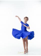 Рейтинговое платье BS420KR# Dance.me, Украина, бифлекс, электрик