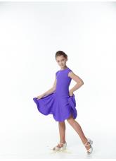 Dance Me Рейтинговые платья / Бейсик BS509#, бифлекс матовый, черничный