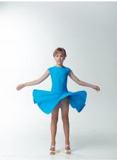 Dance Me Рейтинговые платья / Бейсик BS509#, бифлекс матовый, лазуревый