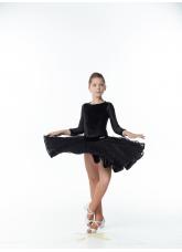 Dance Me Рейтинговые платья / Бейсик BS716DR-274-11#, черный, бифлекс+гипюр+бархат