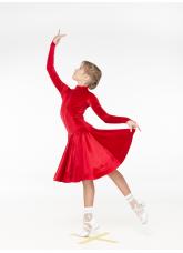 Бейсик BS539DR-13# DANCEME, бархат, красный, кринолин