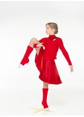 Dance Me Гетры RG1, акрил, красный (17)
