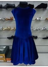 Рейтинговое платье BS509-13# DANCEME, бархат кринолин, электрик