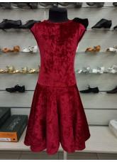 Рейтинговое платье BS509-13C# DANCEME, бархат кринолин, красный