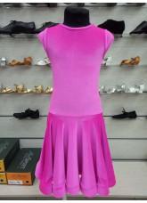 Рейтинговое платье BS509-13V# DANCEME, бархат кринолин, фуксия