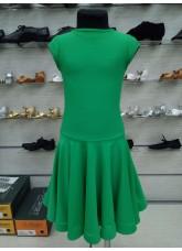 Рейтинговое платье BS509# DANCEME, бифлекс матовый, зеленый