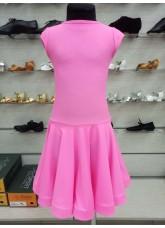 Рейтинговое платье BS509# DANCEME, бифлекс матовый, розовый