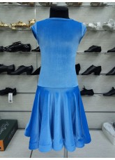 Рейтинговое платье BS509-13V# DANCEME, бархат кринолин, светло-голубой