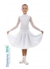 Бейсик 198-274-11 Dance.me, Украина, Бифлекс+гипюр, Белый №2