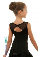 Блуза БЛ351-6 Dance.me, Украина, Масло+сетка, Черный
